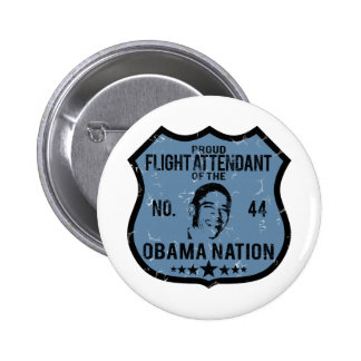 Flight Attendant Obama Nation 2 Inch Round Button
