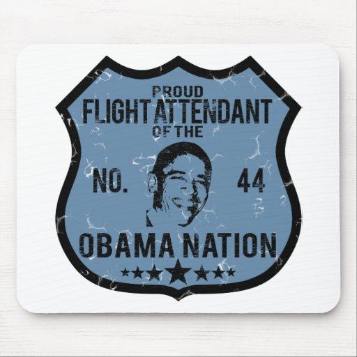 Flight Attendant Obama Nation Mouse Pads
