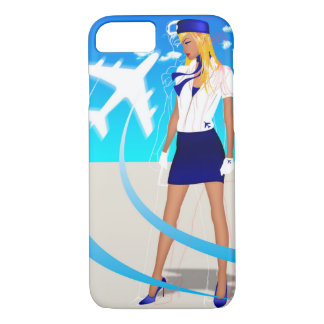 Flight Attendant PNC Boeing Airbus AirPlane Travel iPhone 8/7 Case