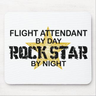 Flight Attendant Rock Star Mouse Mats