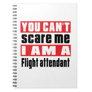 Flight attendant scare designs notebook