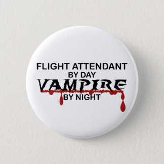 Flight Attendant Vampire by Night 2 Inch Round Button