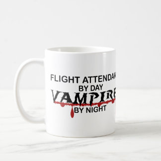 Flight Attendant Vampire by Night Coffee Mug