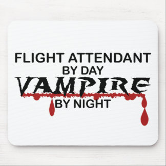 Flight Attendant Vampire by Night Mouse Pads