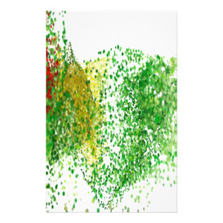 Flight colored particles in the air stationery