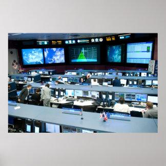 Flight Control Room Johnson Space Center Poster