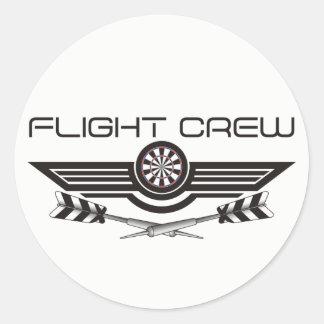 Flight Crew Darts Team Classic Round Sticker