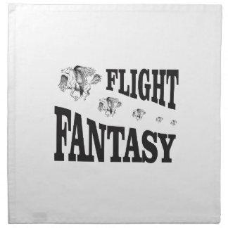flight fantasy napkin