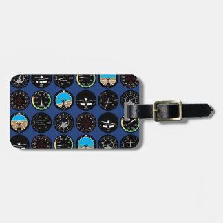 Flight Instruments Luggage Tag