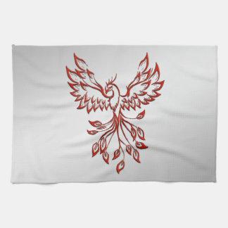 Flight of A Phoenix Kitchen Towel