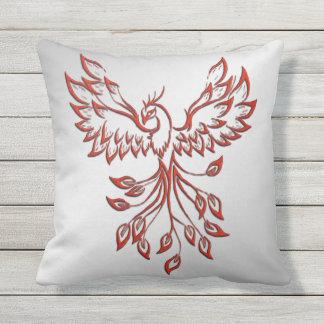 Flight of A Phoenix Outdoor Pillow