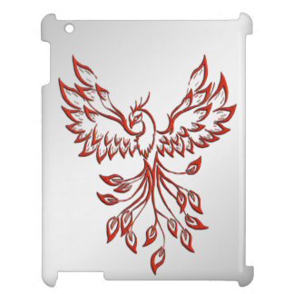 Flight of A Phoenix Silver iPad Cases