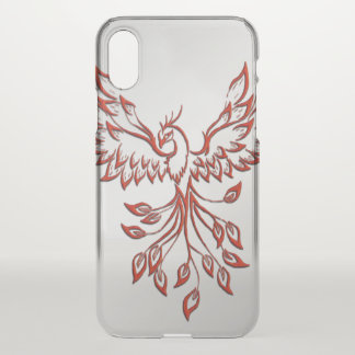 Flight of A Phoenix Silver iPhone X Case