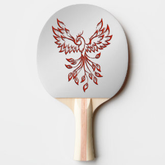 Flight of A Phoenix Silver Ping Pong Paddle