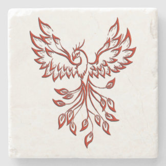 Flight of A Phoenix Stone Coaster