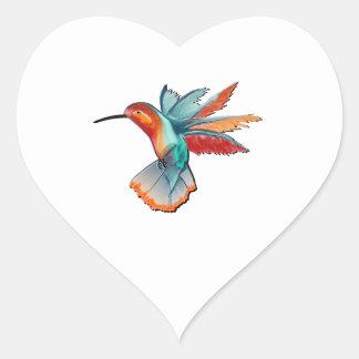 Flight of Elegance Heart Sticker