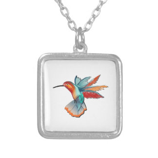 Flight of Elegance Silver Plated Necklace