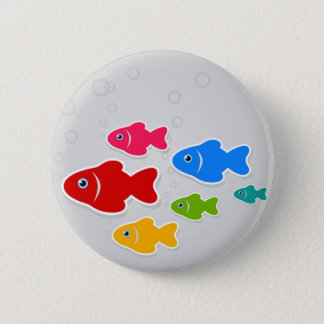 Flight of fishes3 2 inch round button