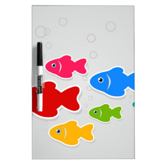 Flight of fishes3 dry erase board