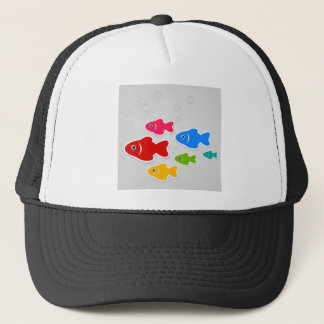 Flight of fishes3 trucker hat