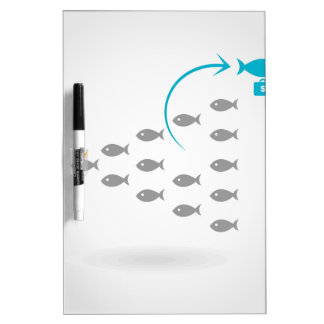Flight of fishes4 dry erase whiteboards