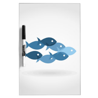 Flight of fishes5 dry erase board