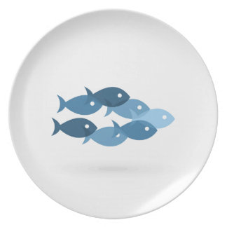 Flight of fishes5 plate