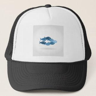 Flight of fishes5 trucker hat