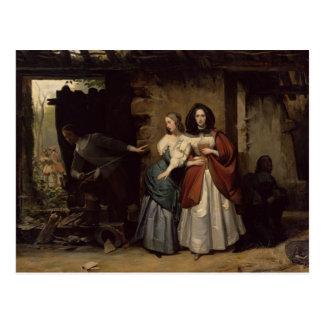Flight of Henrietta-Maria France, Queen of Postcard