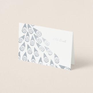 Flight of Royalty Name Stationery Foil Card