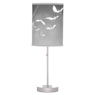 Flight of the Bats in Gray Table Lamp