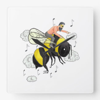 Flight of the Bumblebee by Nicolai Rimsky-Korsakov Square Wall Clock