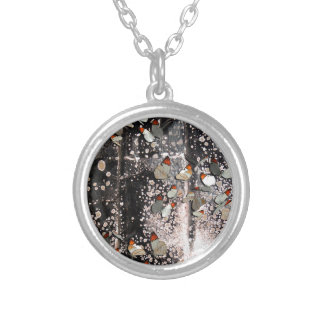 FLIGHT OF THE BUTTERFLIES 2 SILVER PLATED NECKLACE