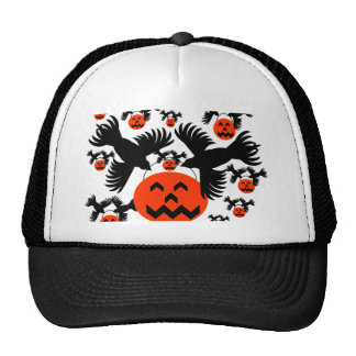 Flight of the Jack-o'-lanterns Mesh Hats