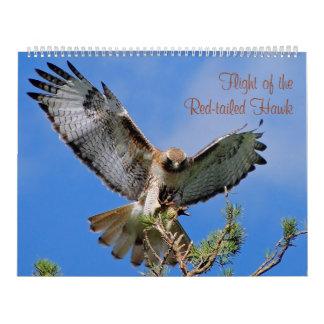 Flight of the Red Hawk Wall Calendar