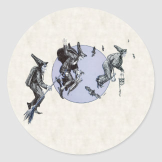 Flight of the Witches Classic Round Sticker