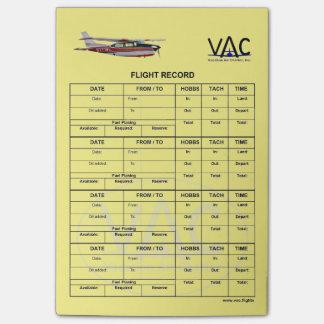 Flight Record N777WL Post-it® Notes 4 x 6