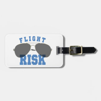 Flight Risk Aviation Glasses Luggage Tag