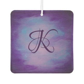Flighty Auto | Monogram Purple Blue Pink | Pastel Air Freshener
