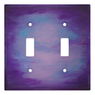 Flighty Decor | Monogram Pink Blue Purple | Pastel Light Switch Cover