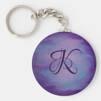 Flighty Style | Monogram Purple Blue Pink | Pastel Keychain