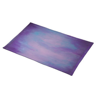 Flighty Table | Watercolor Purple Blue Pink | Chic Placemat