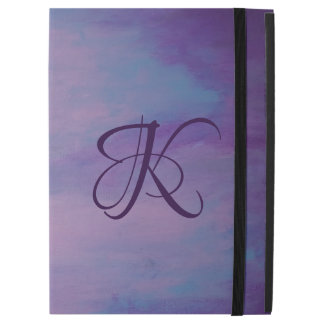 "Flighty Tech | Monogram Purple Blue Pink | Pastel iPad Pro 12.9"" Case"