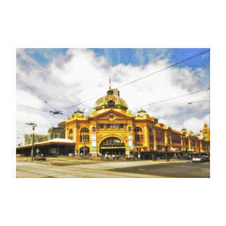 "Flinder's Street Station 24"" x 16"" Canvas"