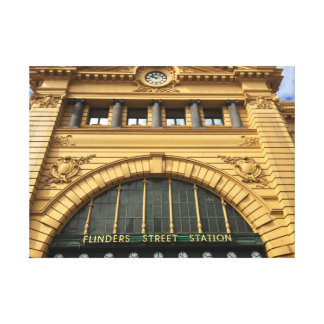 Flinders Street Station Wrapped Canvas