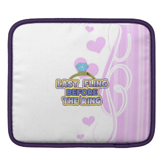 fling before ring bride bachelorette wedding party sleeve for iPads