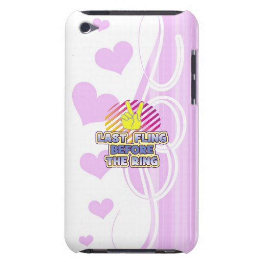 fling ring peace bachelorette wedding bridal iPod touch cover