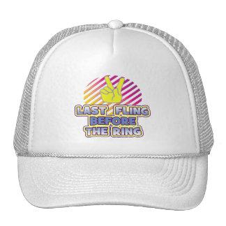 fling ring peace bachelorette wedding bridal trucker hats