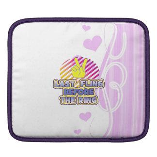 fling ring peace bachelorette wedding bridal iPad sleeve
