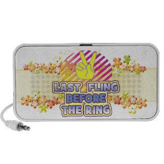 fling ring peace bachelorette wedding bridal travelling speakers